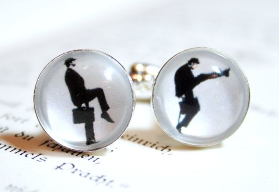 Silhouette Cufflinks – Silly walks