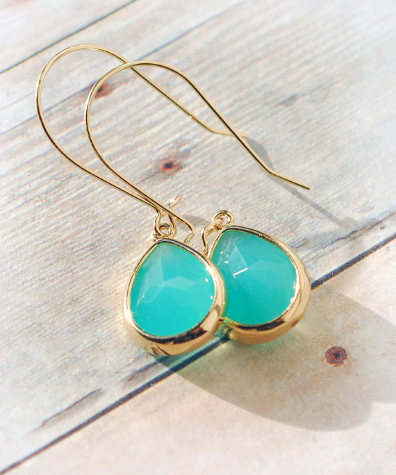 Turquoise Jewelry Drop Earrings Dangle Earrings Bridesmaid Gift Bridal Accessories