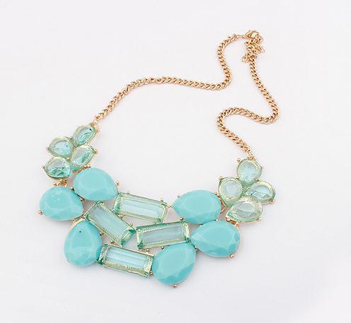 Turquoise necklace/ bubble necklace,bib necklace,statement necklace