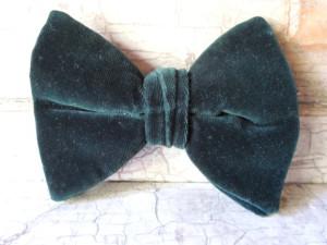 Bow Tie, Mens Bow Tie, Rare, 1940, Velvet, Vintage Bow Tie, Butterfly Bow Tie, Bowtie, Necktie, Tie, Forest Green, Mens Tie, All Vintage Man