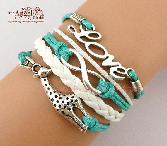 Bracelet – To Infinity and Beyond, Infinity Wish,Love & Giraffe Charm Bracelet