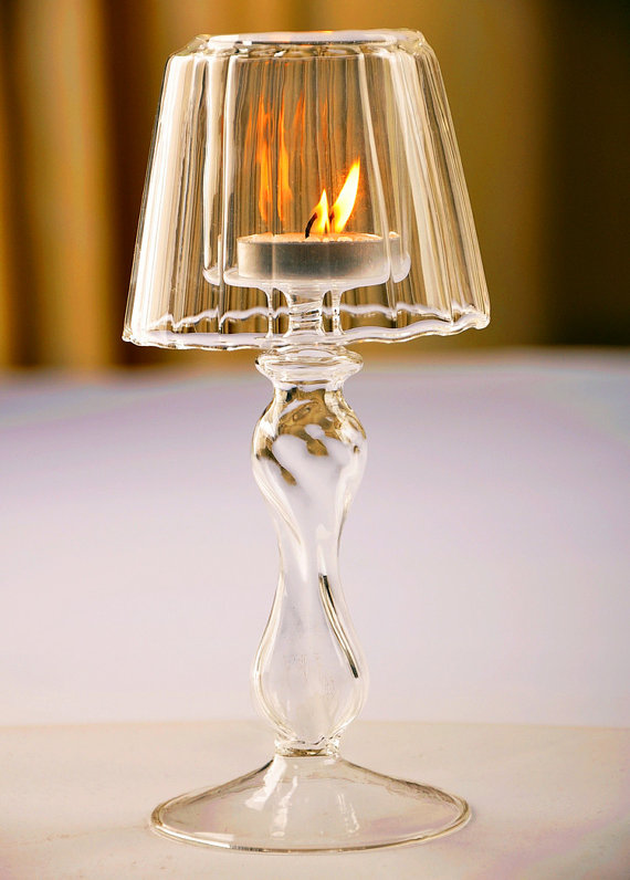 Unusual europe crystal clear glass table lamp style candle holder, glass candle sticker, Romantic home decoration, wedding decor