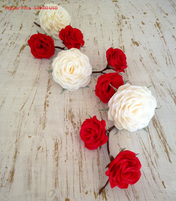 Wedding Garland/Paper Flowers/Wedding Arch Garland/Table Flower Garland/Rose Garland