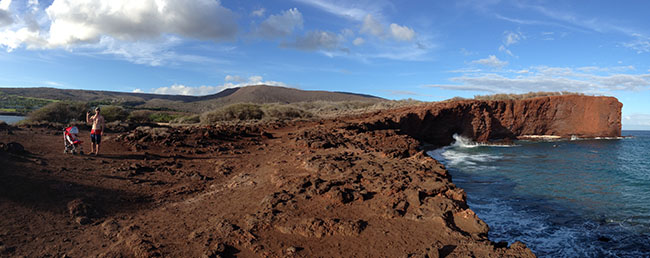 If off roading isn't your idea of fun, you can access a lot of great activities right from the Four Seasons Resort Lanai at Manele Bay. We took a light stroll out to Sweetheart Rock (seen below), then another along the coast and up to the golf course. Other activities on site include: scuba diving, snorkeling, surfing, golf, spa, kayaking and whale watching. Some lucky guests get to see dolphins when out on early morning snorkeling trips in the bay.