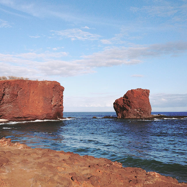 Lanai is a relaxing island….it's very easy to get yourself on island time here. With the great Four Seasons restaurants, fun hikes, and a beautiful beach that is never crowded (they always have a seat for you), it would make a great stop for a honeymoon or anniversary trip