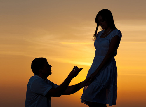 Wedding Proposals – Romantic Proposal at Sunset