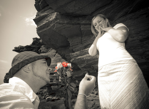 Wedding Proposal with Rose