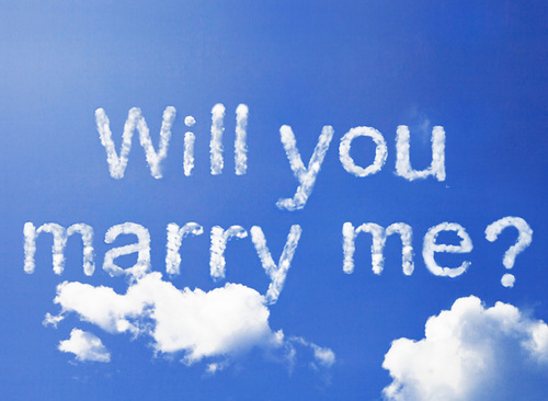 Wedding Proposals – Skywriting proposal