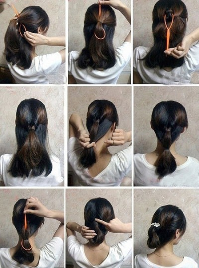 How to make easy hair style fast