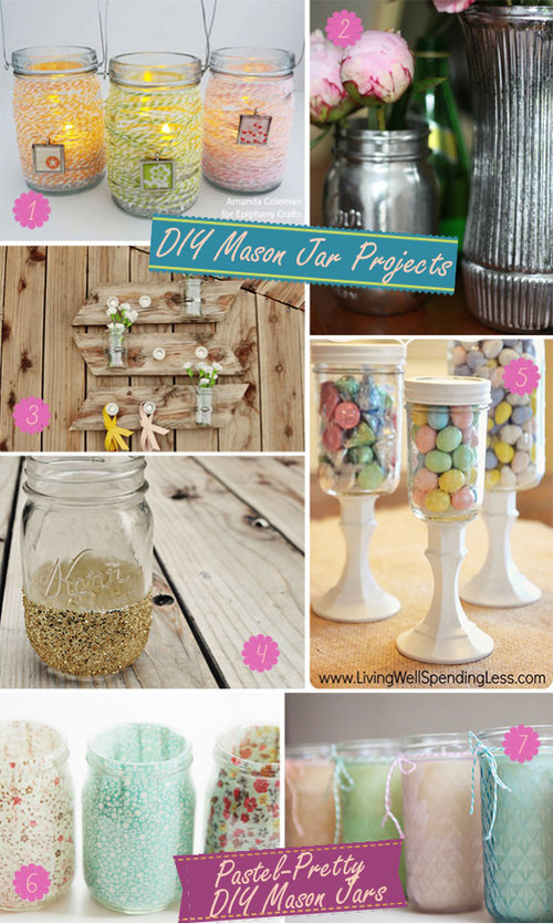 Simple DIY Mason Jar Projects for Weddings!