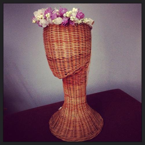 Handmade flowers wreath
