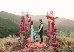 Super dreamy bougainvillea ceremony