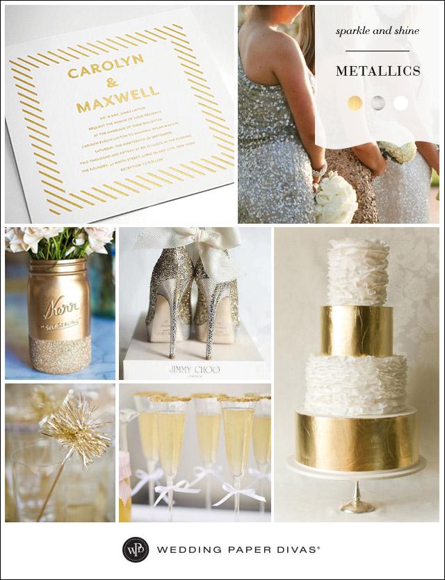 Metallic Wedding Inspiration Board