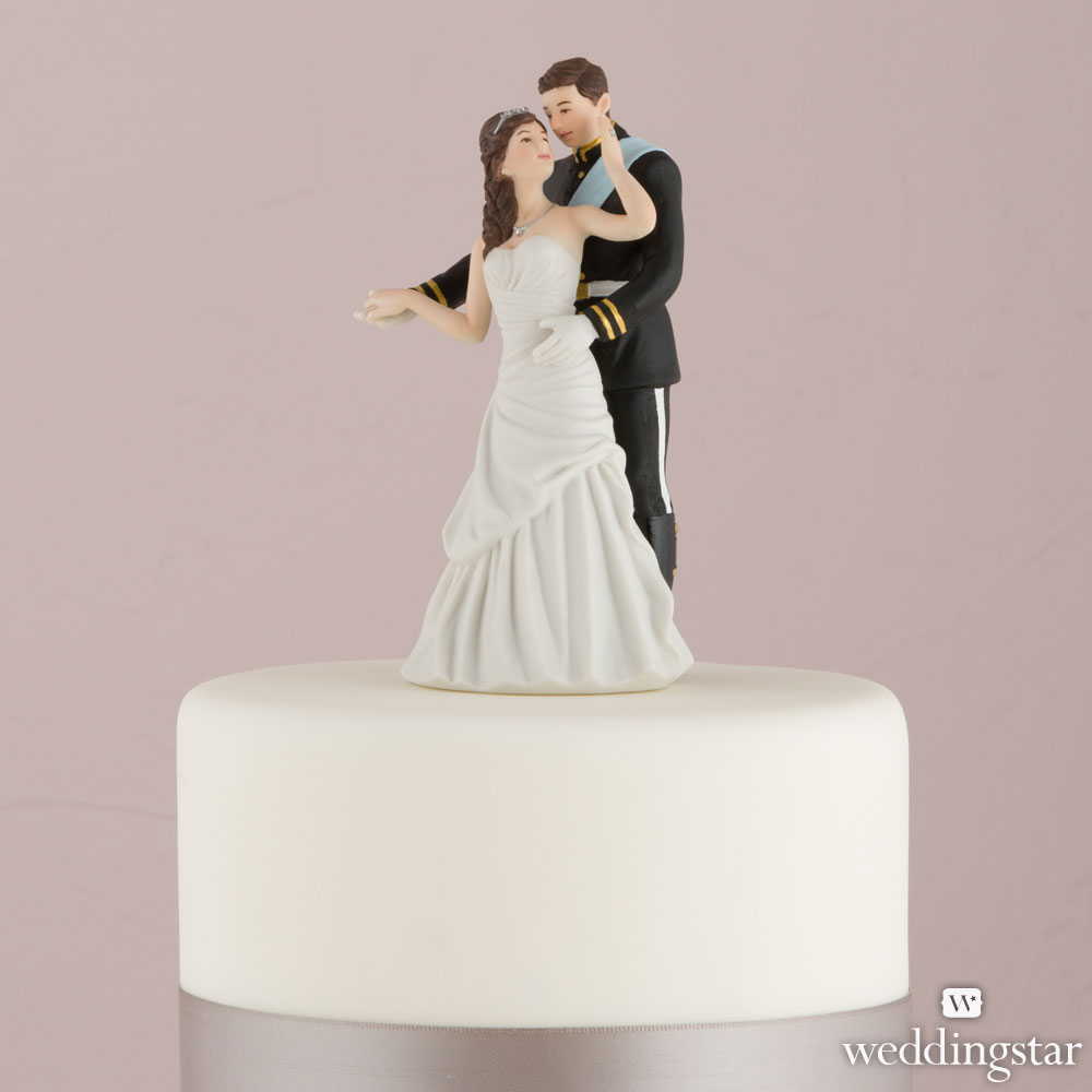 PRINCE AND PRINCESS COUPLE FIGURINE CAKE TOPPER