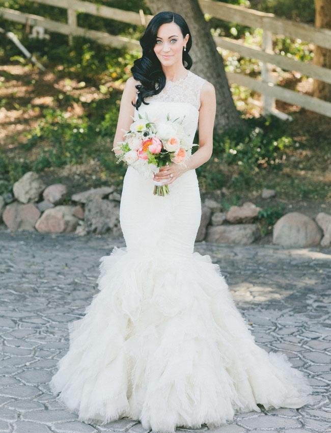 Sarah's Vera Wang dress was simply stunning from this wedding