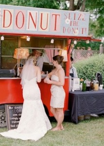Morning Treats Skip the cake at your brunch wedding and go for colorful, delicious donuts.