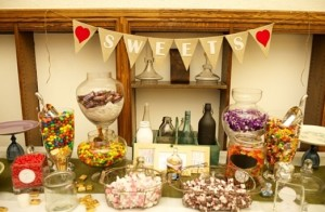 The Sweetest Buffet Your littlest guests will jump for joy at the sight of this candy buffet.