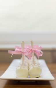 Small Bites Cake pops are a cute alternative to the traditional wedding cake — and much more fun to eat!
