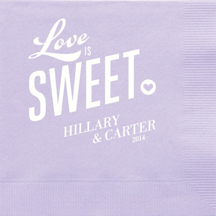Sweet and Lovely : Pastel Purple Napkin