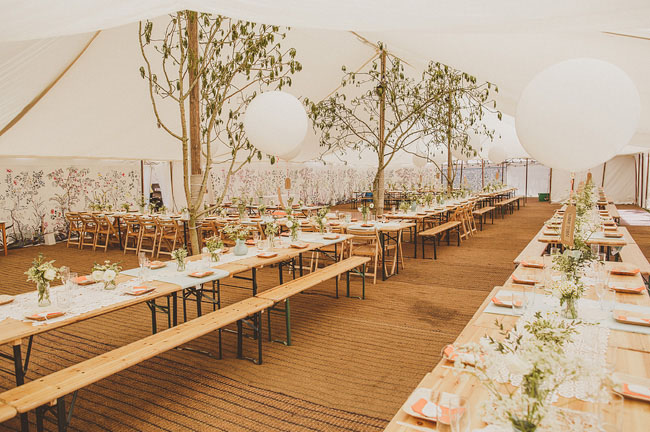 One of the most dreamy tents we've seen (love how it brings the outdoors in!)