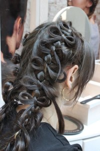 Gorgeous knot braid wedding hairstyles for long hair.