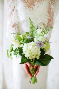 green infused bouquet