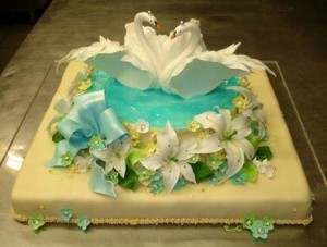 Unique wedding cakes- lovebirds