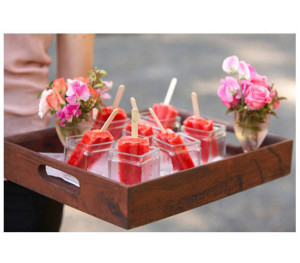 Ice Pops After a long night of dancing, a cool treat is the perfect option for departing friends and family.