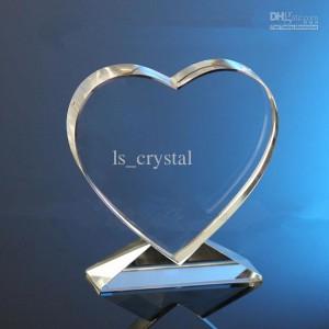 Optic Crystal Heart Gift
