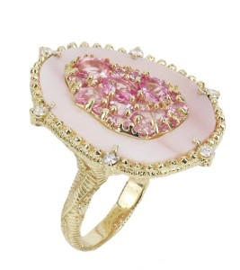 Pink  Vertical Oasis Ring