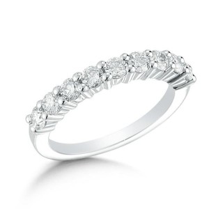 Silver Womens Wedding Band