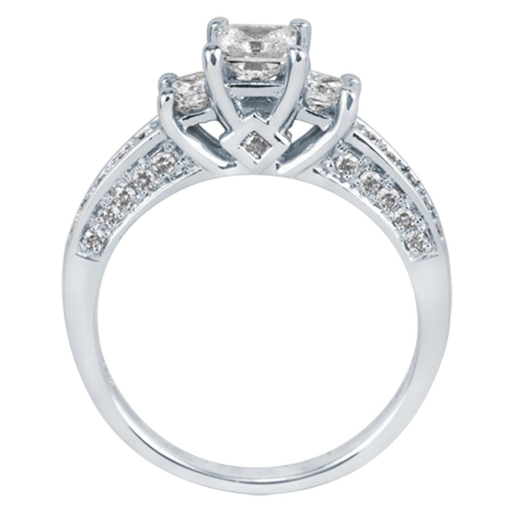 Three-Diamond Engagement Ring