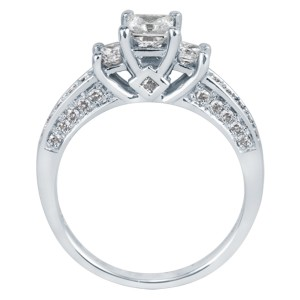 Three-Diamond Engagement Ring