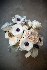 Cute White Black Wedding Bouquet