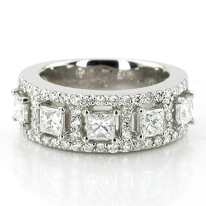 Magnificent diamond fashion ring