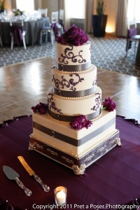 Purple Silver Multi Shape Cake