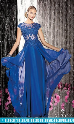 $175 Black Prom Dresses – Alyce High Neck Long Prom Dress at www.promdressbycolor.com