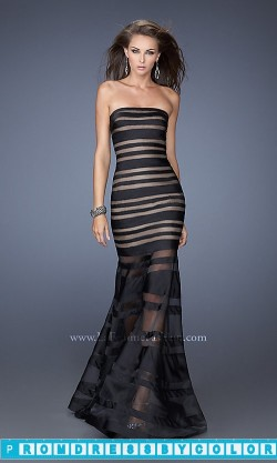 $170 Black Prom Dresses – Floor Length Strapless La Femme Prom Dress 19728 at www.promdressbycolor.com