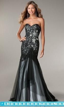 $203 Black Prom Dresses – Floor Length Strapless Sweetheart Dress at www.promdressbycolor.com