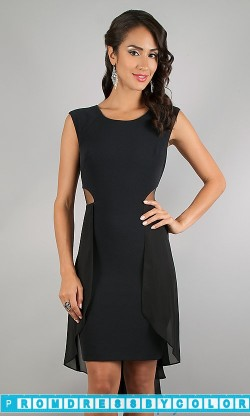 $148 Black Prom Dresses – High Low Sleeveless Black Dress at www.promdressbycolor.com