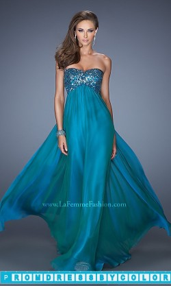 $183 Black Prom Dresses – Long Empire Waist Strapless Sweetheart Gown at www.promdressbycolor.com