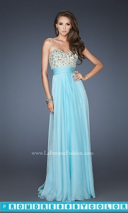 $183 Black Prom Dresses – Long Strapless Empire Waist Gown at www.promdressbycolor.com