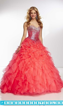 $393 Black Prom Dresses – Long Strapless Ruffled Ball Gown at www.promdressbycolor.com