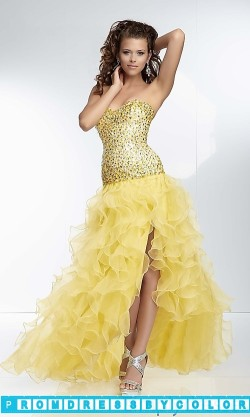 $203 Black Prom Dresses – Long Strapless Ruffled Formal Gown at www.promdressbycolor.com