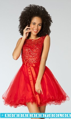 $144 Black Prom Dresses – Short Cap Sleeve Sequin Embellished Dress at www.promdressbycolor.com