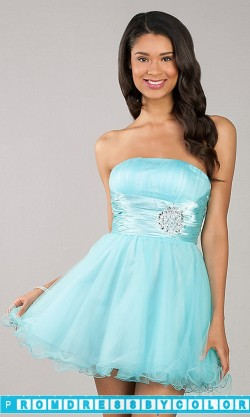$170 Black Prom Dresses – Short Strapless Tulle Party Dress at www.promdressbycolor.com