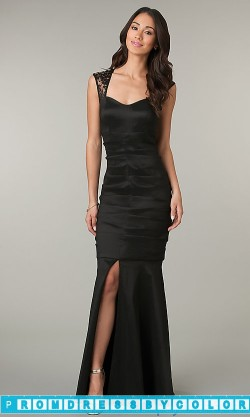 $144 Black Prom Dresses – Sleeveless Floor Length Black Dress at www.promdressbycolor.com