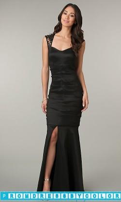 $144 Black Prom Dresses – Sleeveless Floor Length Black Dress at www.promdressbycolor.com