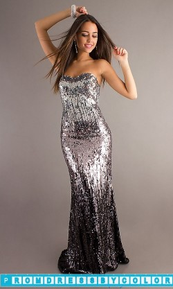$242 Black Prom Dresses – Strapless Sequin Gown by Night Moves 6627 at www.promdressbycolor.com