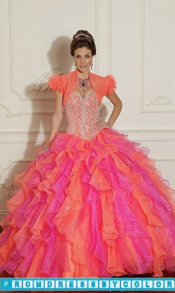 $389 Red Prom Dresses – Beaded Organza Quinceanera Dress by Mori Lee at www.promdressbycolor.com